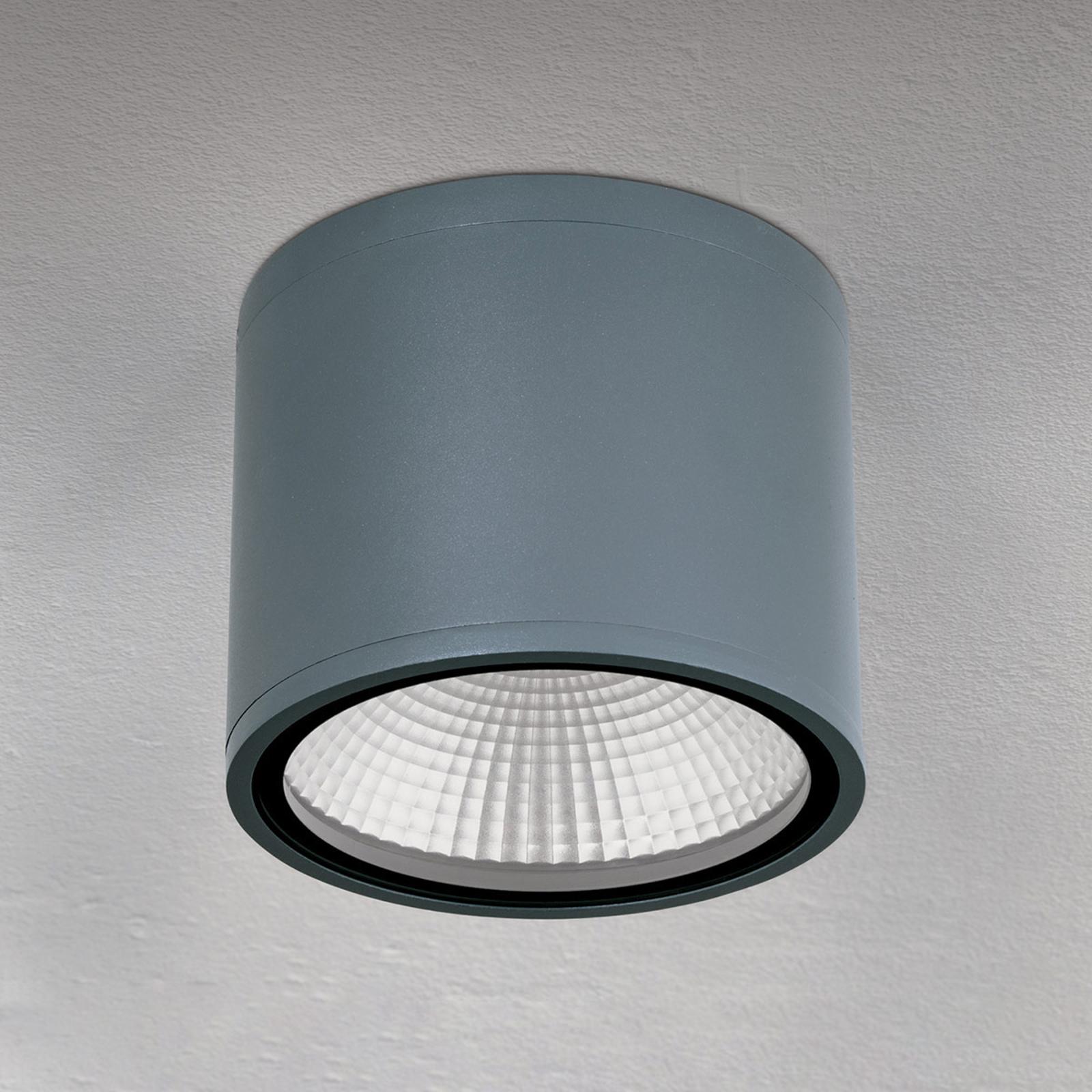 LED stropní světlo Sputnik IP65 Ø 14,5cm antracit