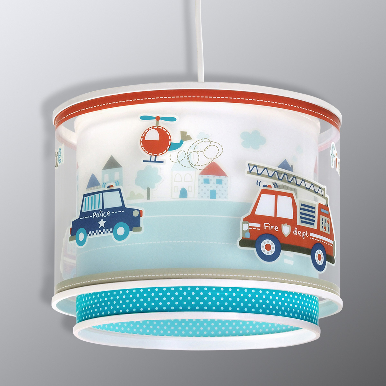 Police: lámpara colgante para habitación de chicos