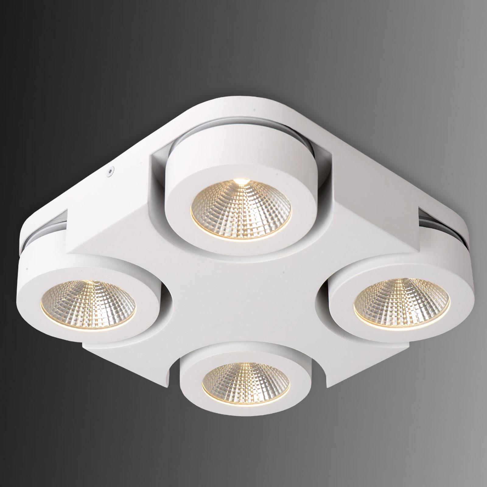 Kwadratowa lampa sufitowa LED Mitrax