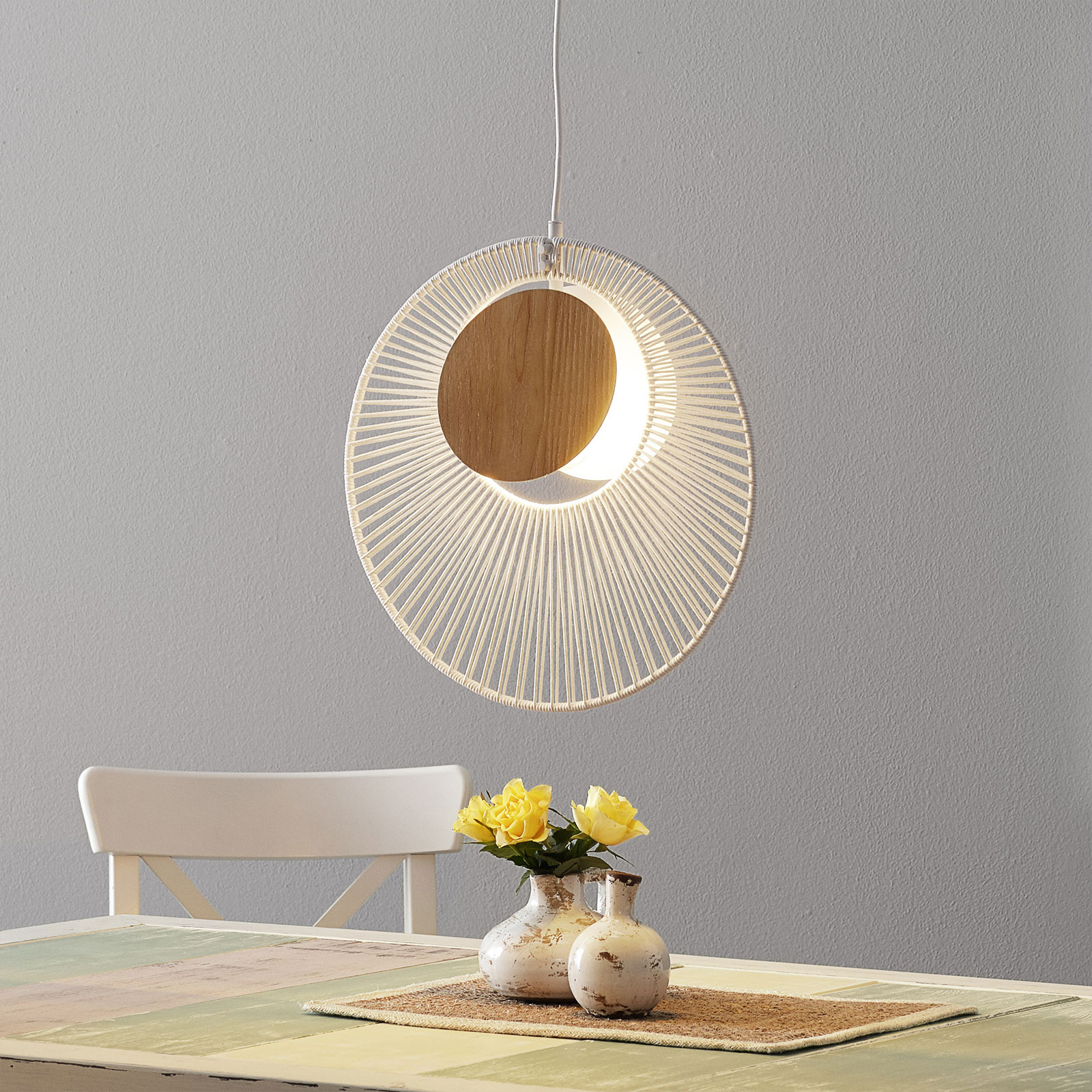 Forestier Oyster design-hanglamp, wit