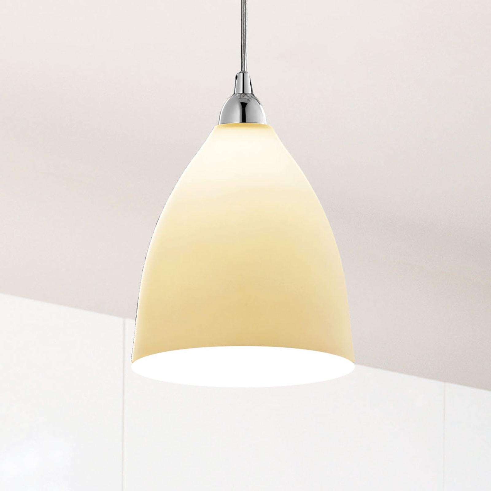 Szklana lampa wisząca PROVENZA, 20 cm, bursztyn