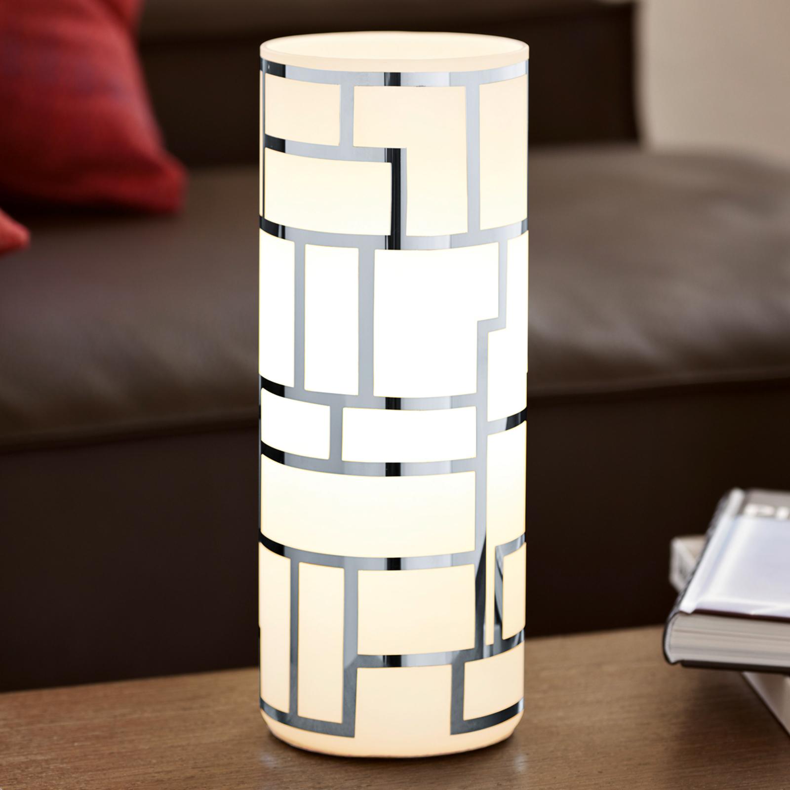 Cylindryczna lampa stołowa Bayman