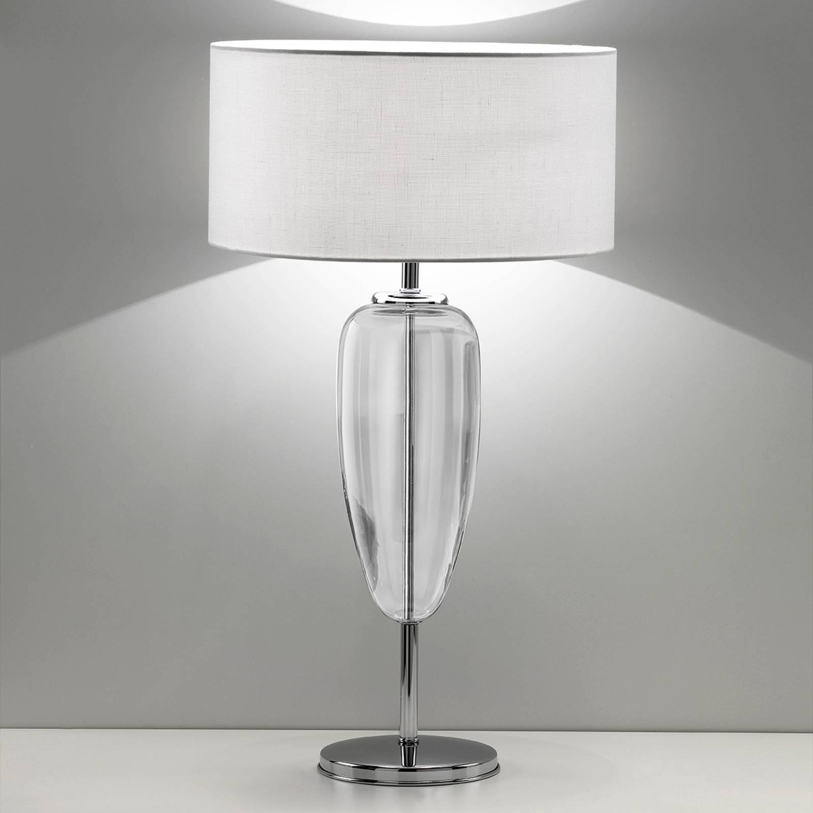 Lampe à poser Show Ogiva 82cm verre transparent