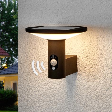 Applique d'extérieur LED ronde Jersy, pan. solaire