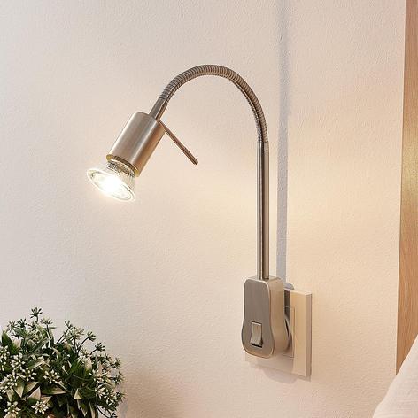 Lindby Ahoja stikkontaktlampe, flex-arm, kontakt