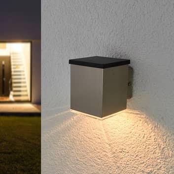 LED-Solar-Außenwandleuchte Tyson, eckig, klar