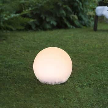 Globy solcelledrevet LED-kugle med jordspyd