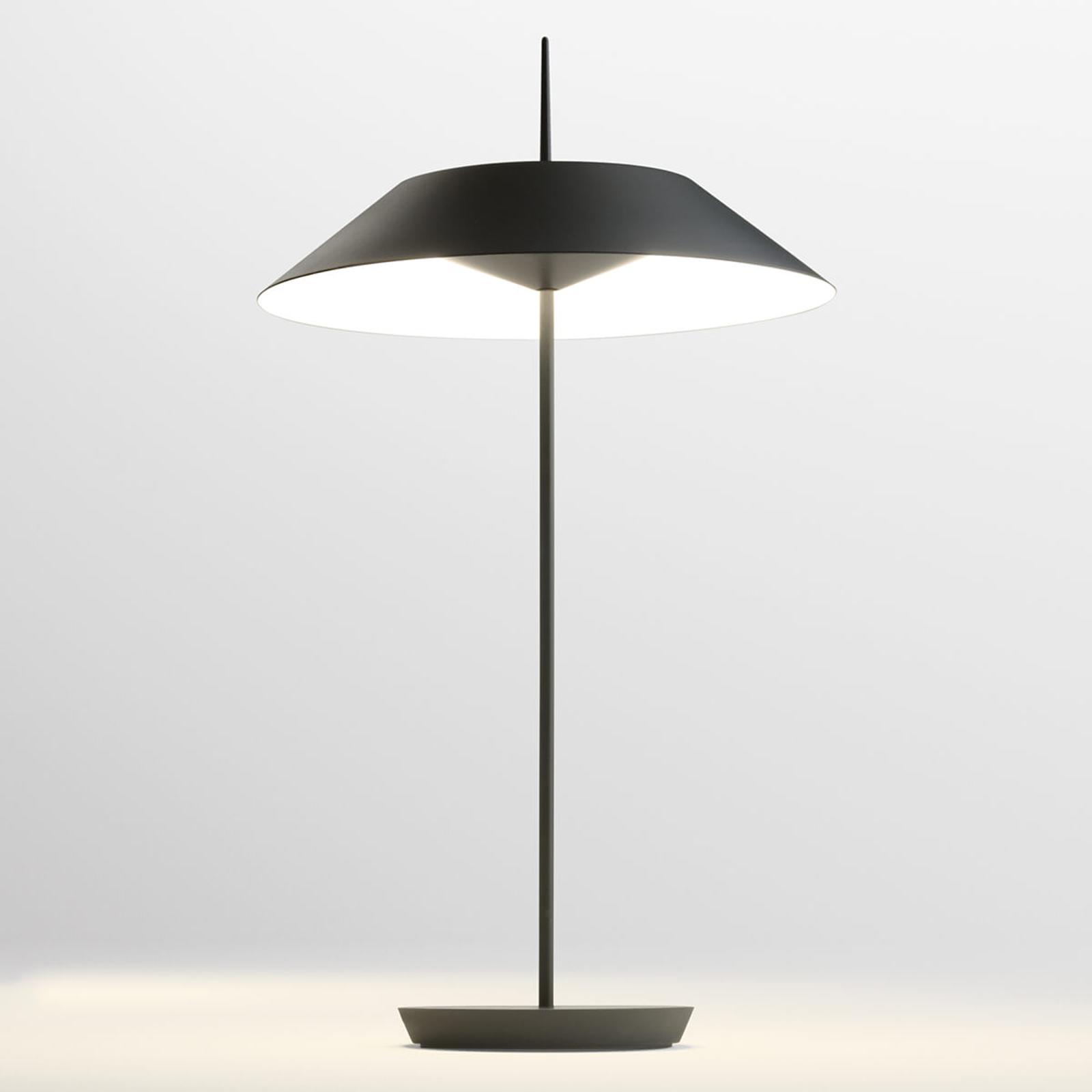 Vibia Mayfair LED-Tischlampe, graphitgrau