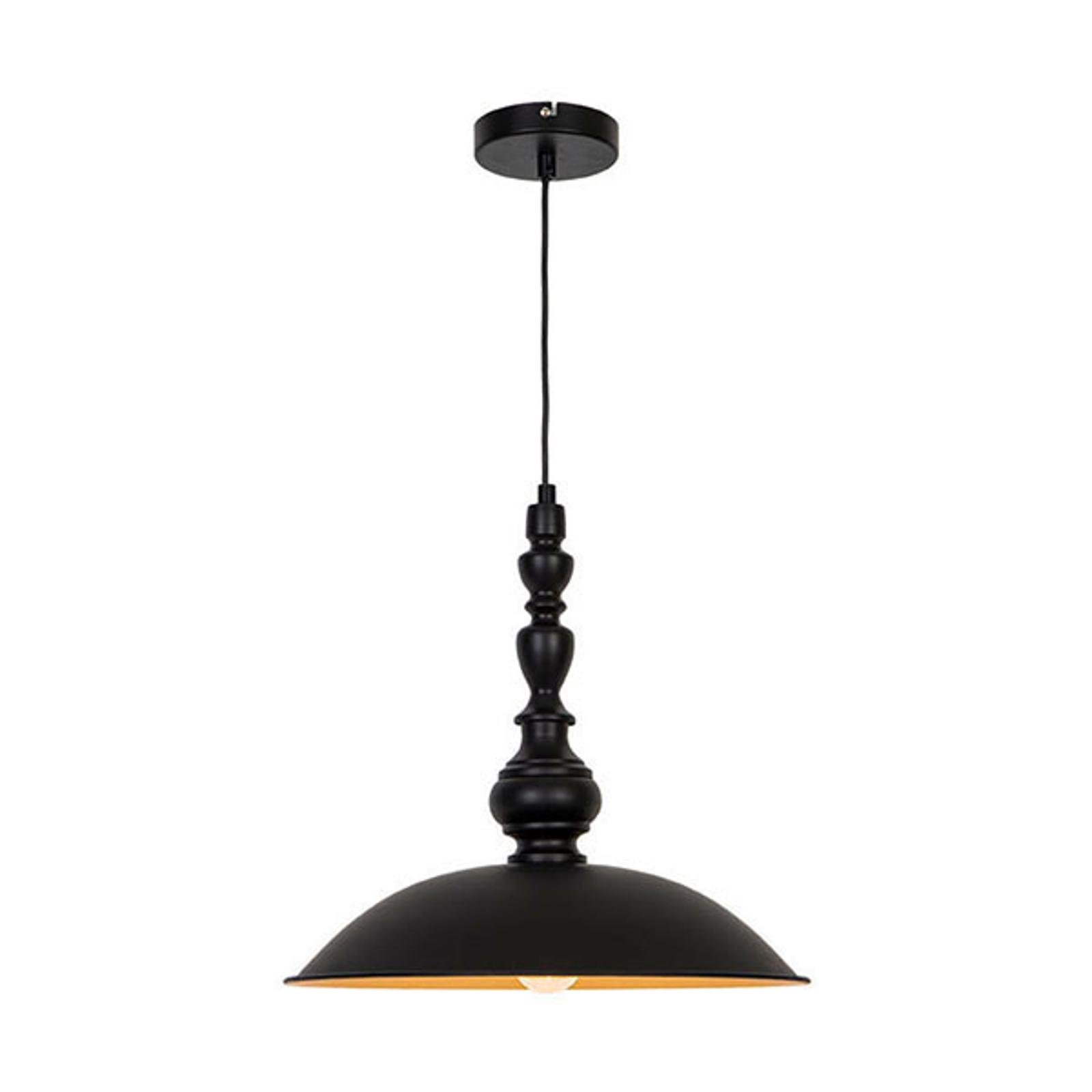Lampa wisząca Colin, czarna, Ø 40 cm