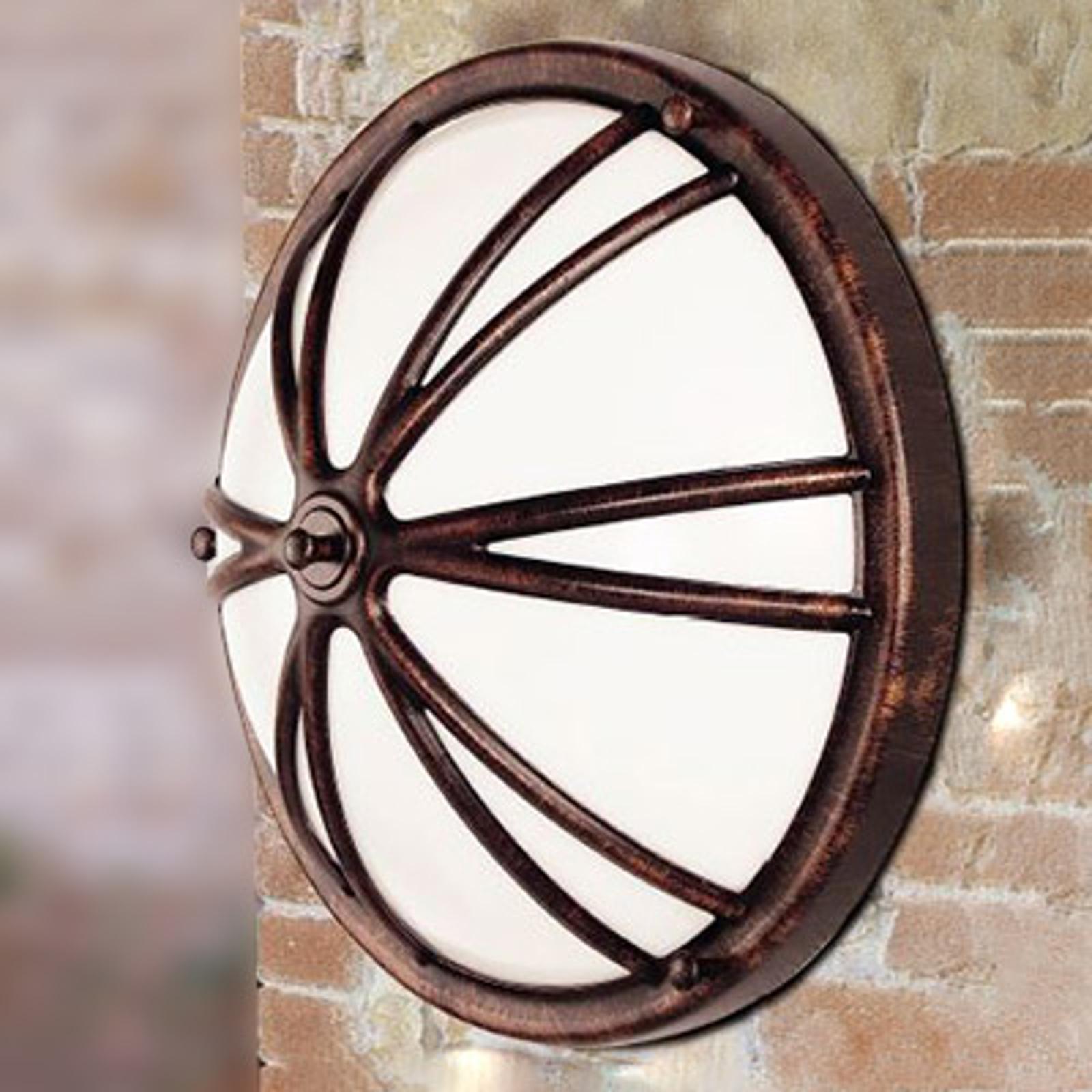 CHARLY – okrągła zewnętrzna lampa ścienna