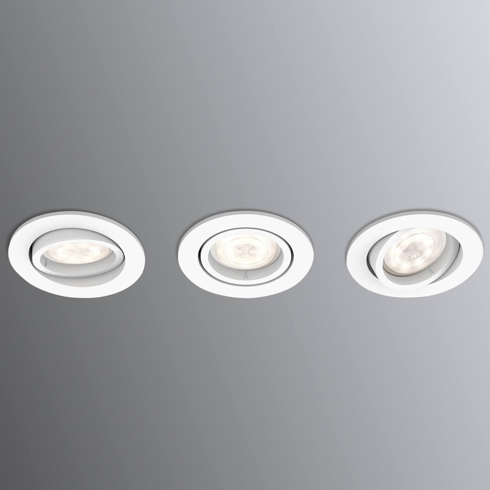 Dimbare LED inbouwspot Shellbark WarmGlow 3 stuks