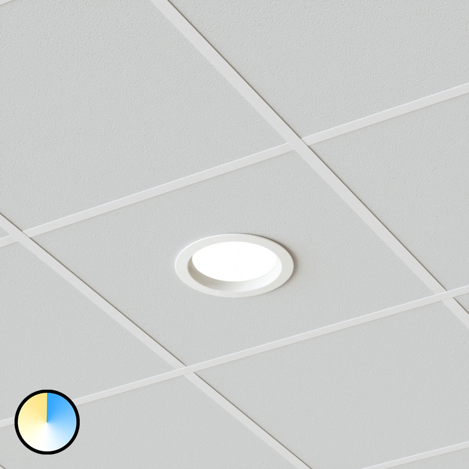 27 W LED-Einbaustrahler Piet, 3.000K 4.000K 6.000K