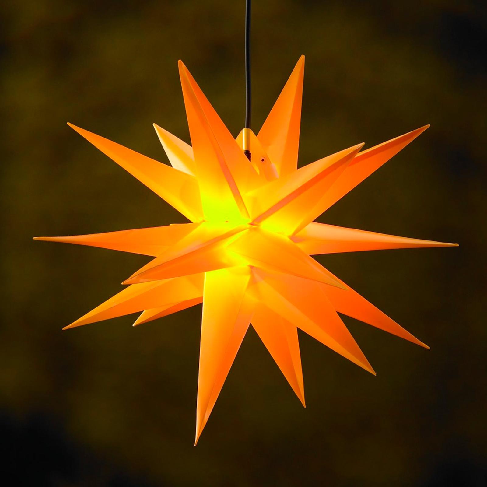 Dekorativ 18-tak XL- plast stjerne til ude brug