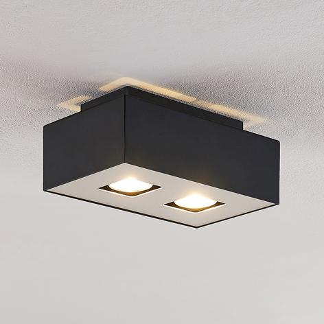 Lindby Kasi taklampa, 2 lampor, 24 x 14 cm