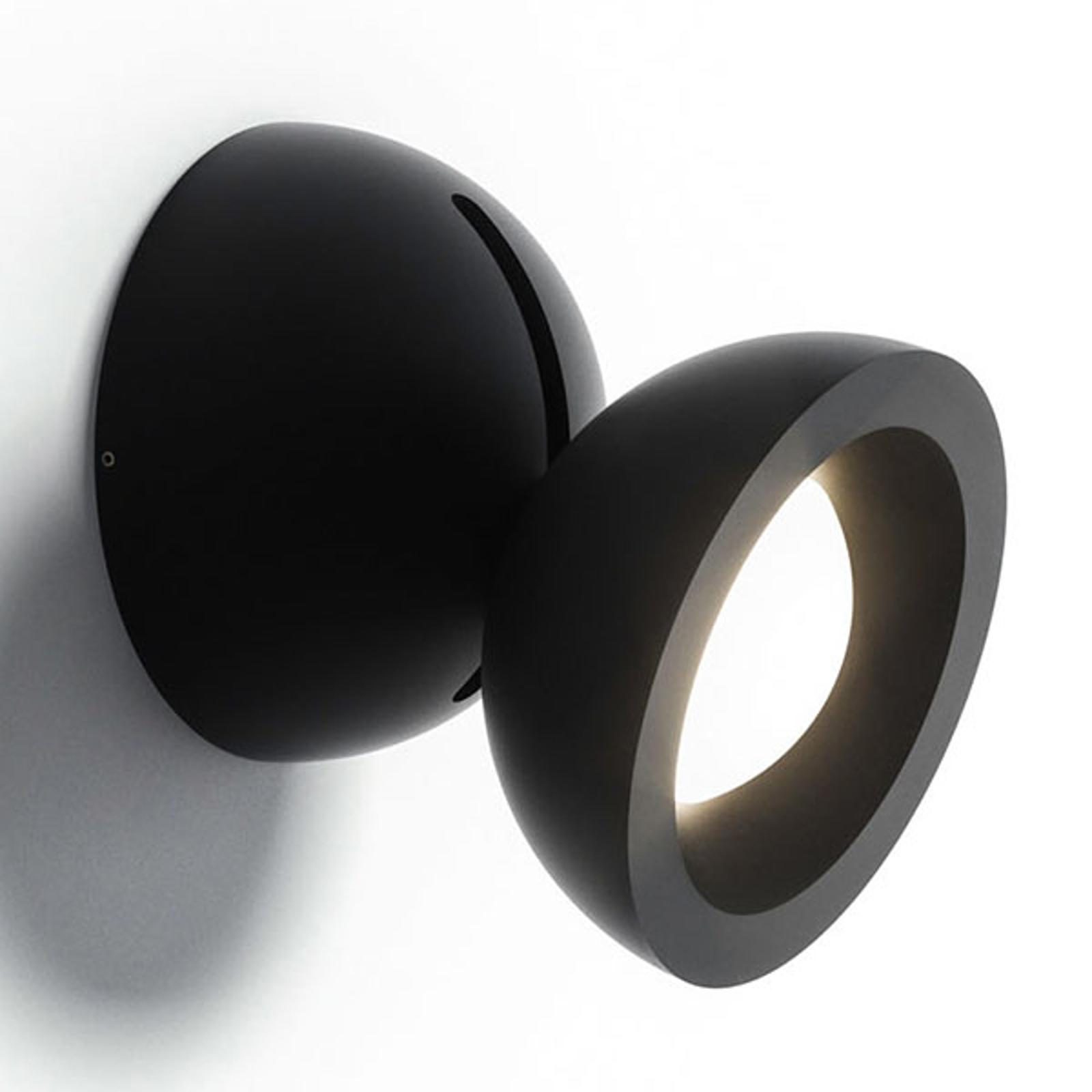 Axolight DoDot LED-Wandleuchte, schwarz 46°