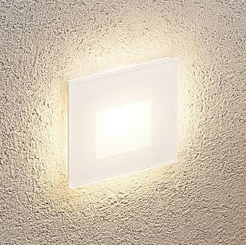 Arcchio Vexi LED indbygningslampe, kantet mat hvid