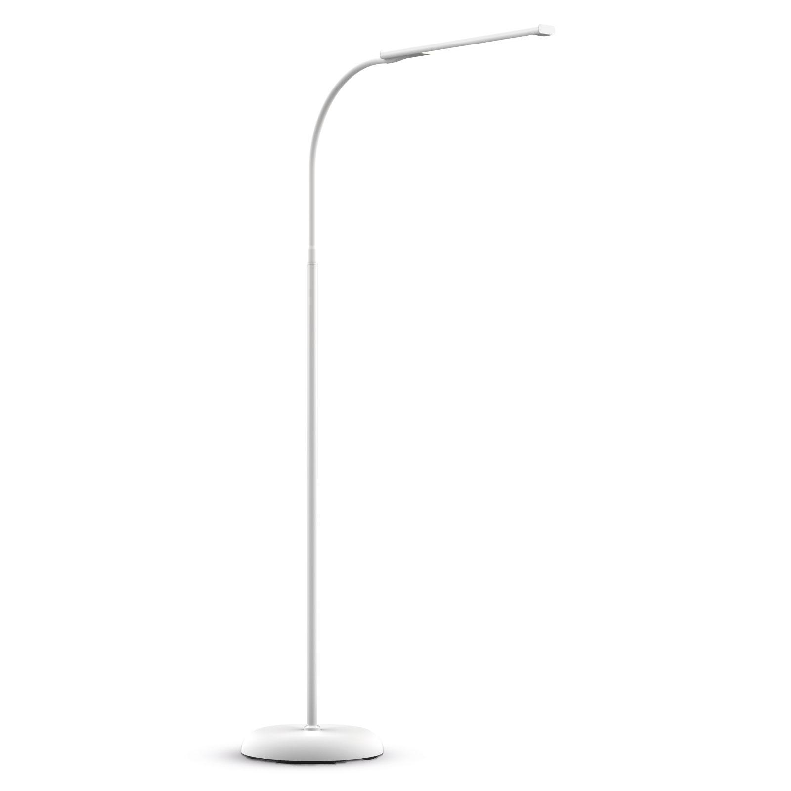LED-golvlampa MAULpirro dimbar, vit