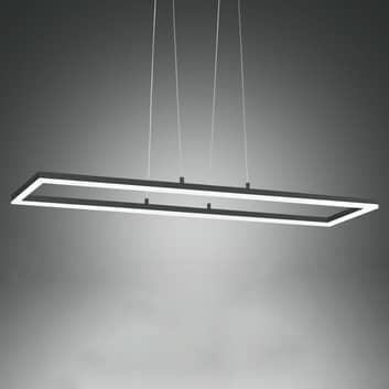 LED hanglamp Bard, 92x32 cm, antraciet