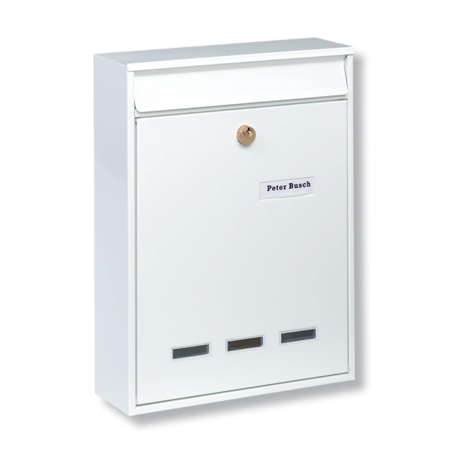 Hvitt KÖLN postkasseanlegg for DIN B5-format