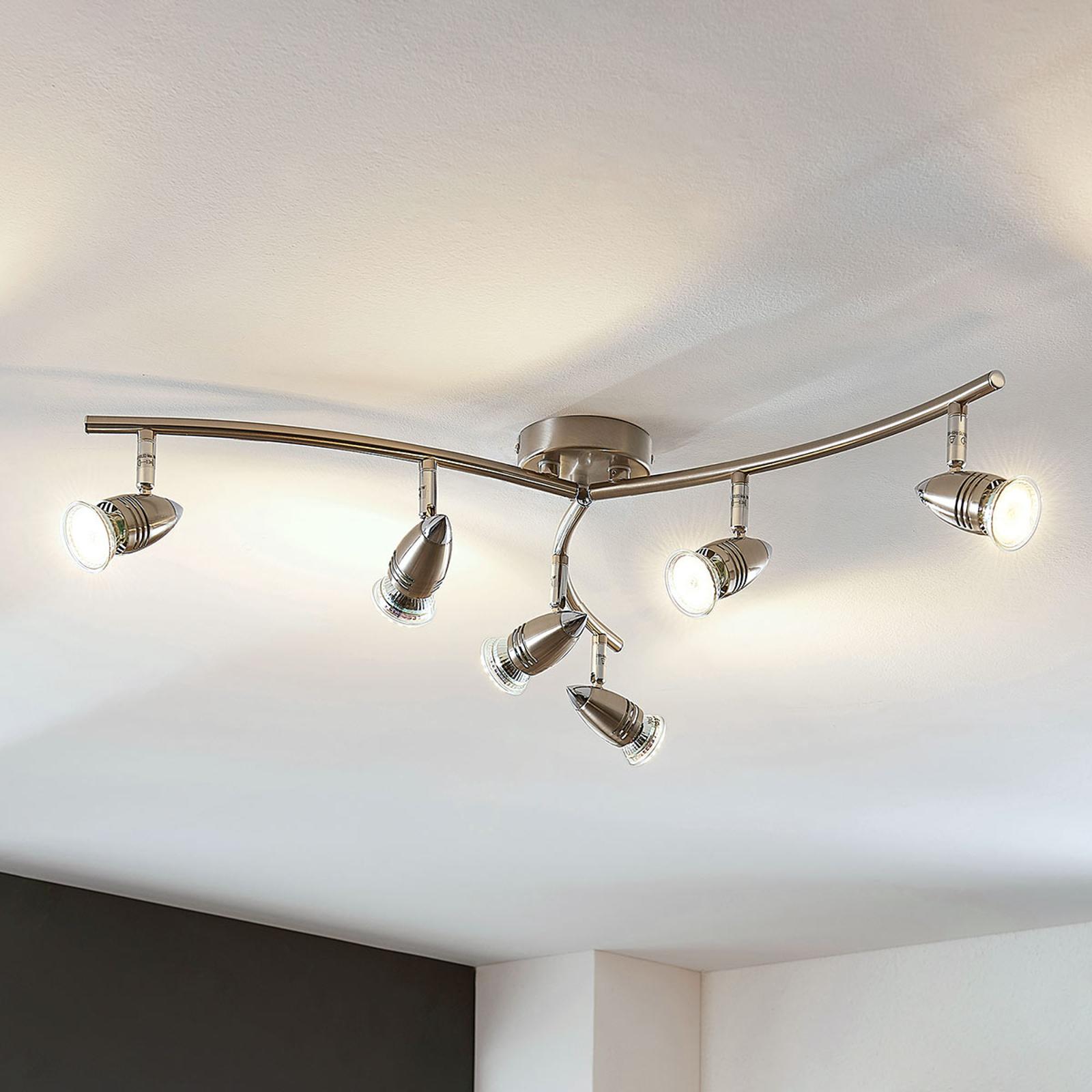 Spot pour plafond LED Benina à 6 lampes