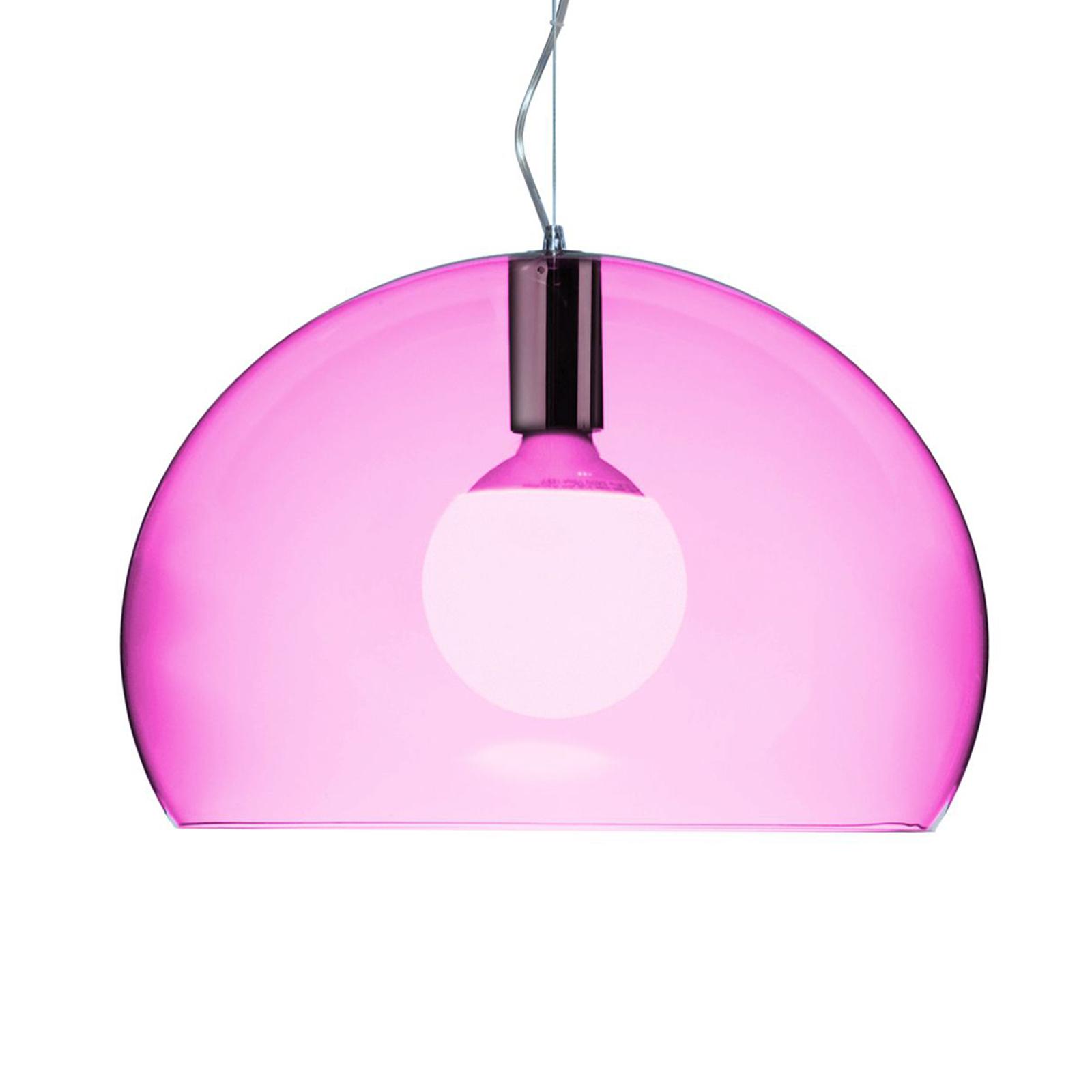 Kartell Small FL/Y LED-Hängeleuchte pink