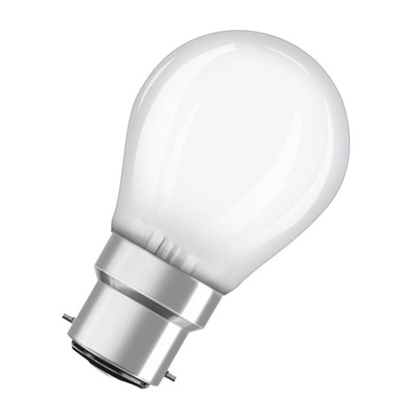 OSRAM LED-Tropfenlampe B22d 5W 2.700K matt dimmbar