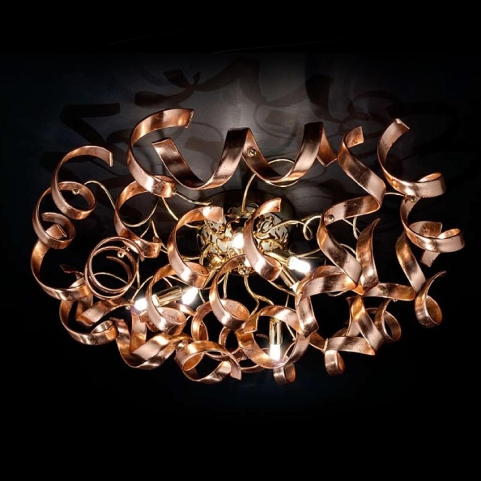 Sierlijke koperen plafondlamp Copper