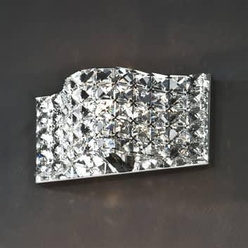 Wandleuchte aus Kristall, 25 cm