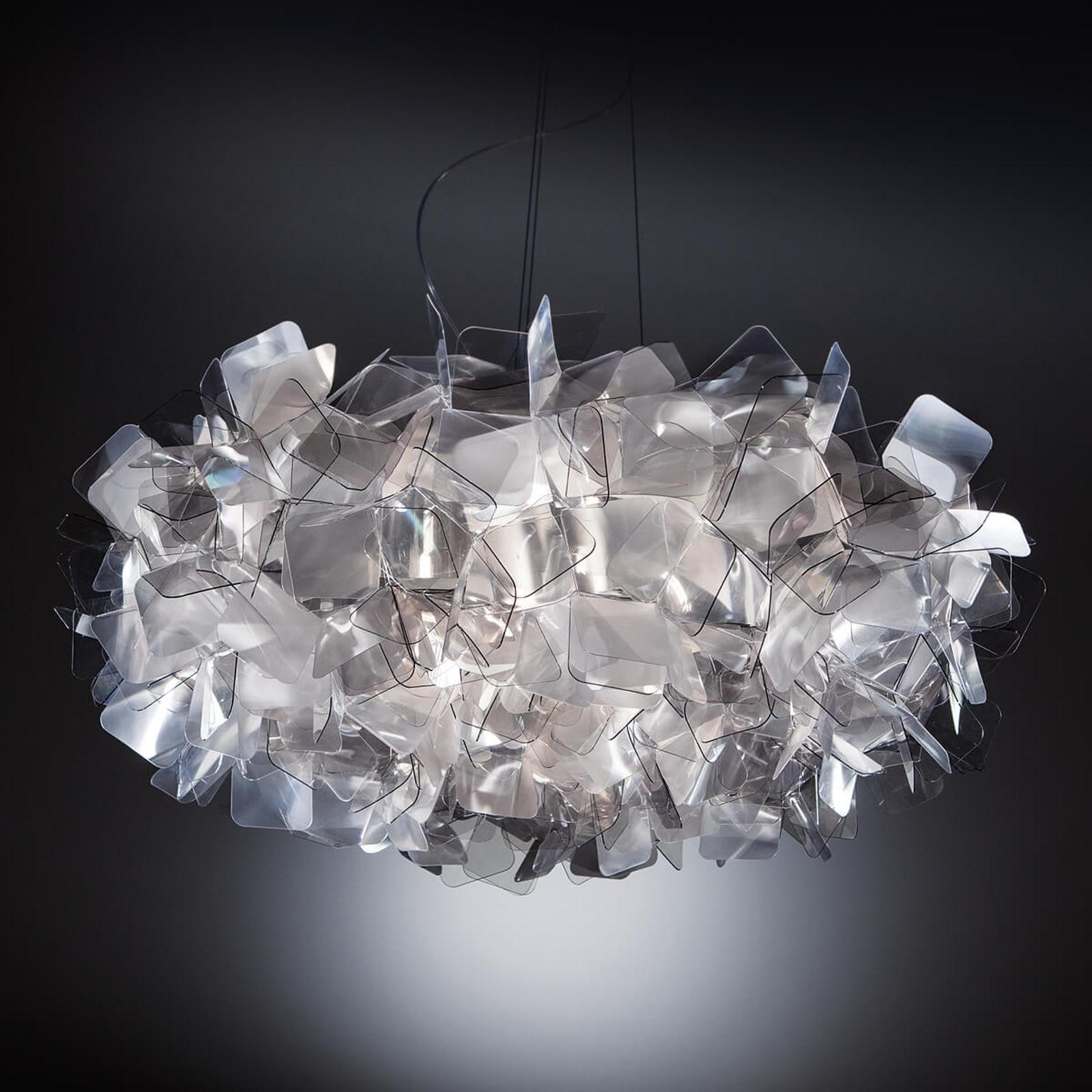 Slamp Clizia - designové závěsné světlo, šedé