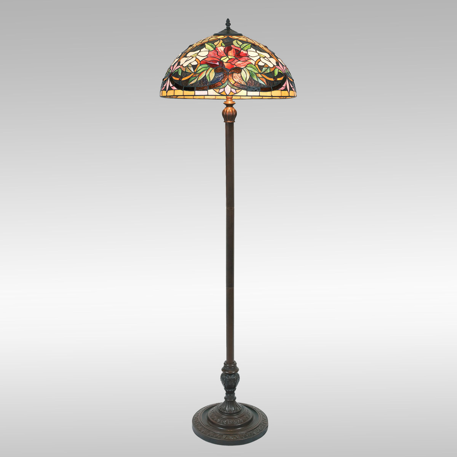 ARIADNE - farveglad gulvlampe i Tiffany stil