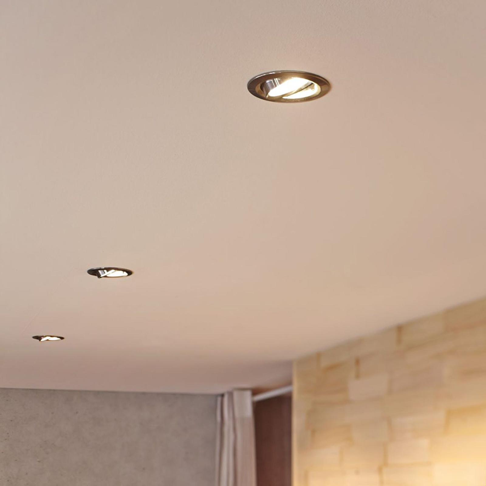 Paulmann Coin Slim 3 lampes LED chromées dimmables