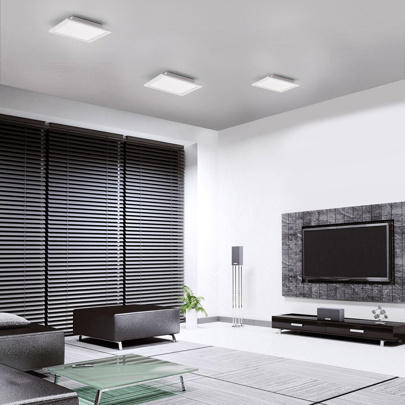 LED-Deckenleuchte LOLAsmart Flat, 30 x 30 cm