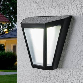 LED solcellelampe Yago, frostet skærm