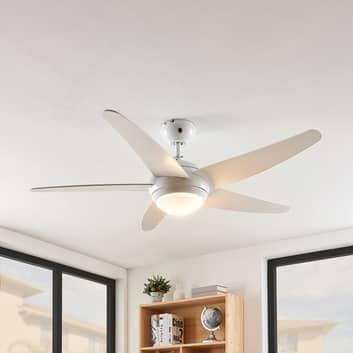 Lindby Ranja ventilador de techo con bombilla R7s