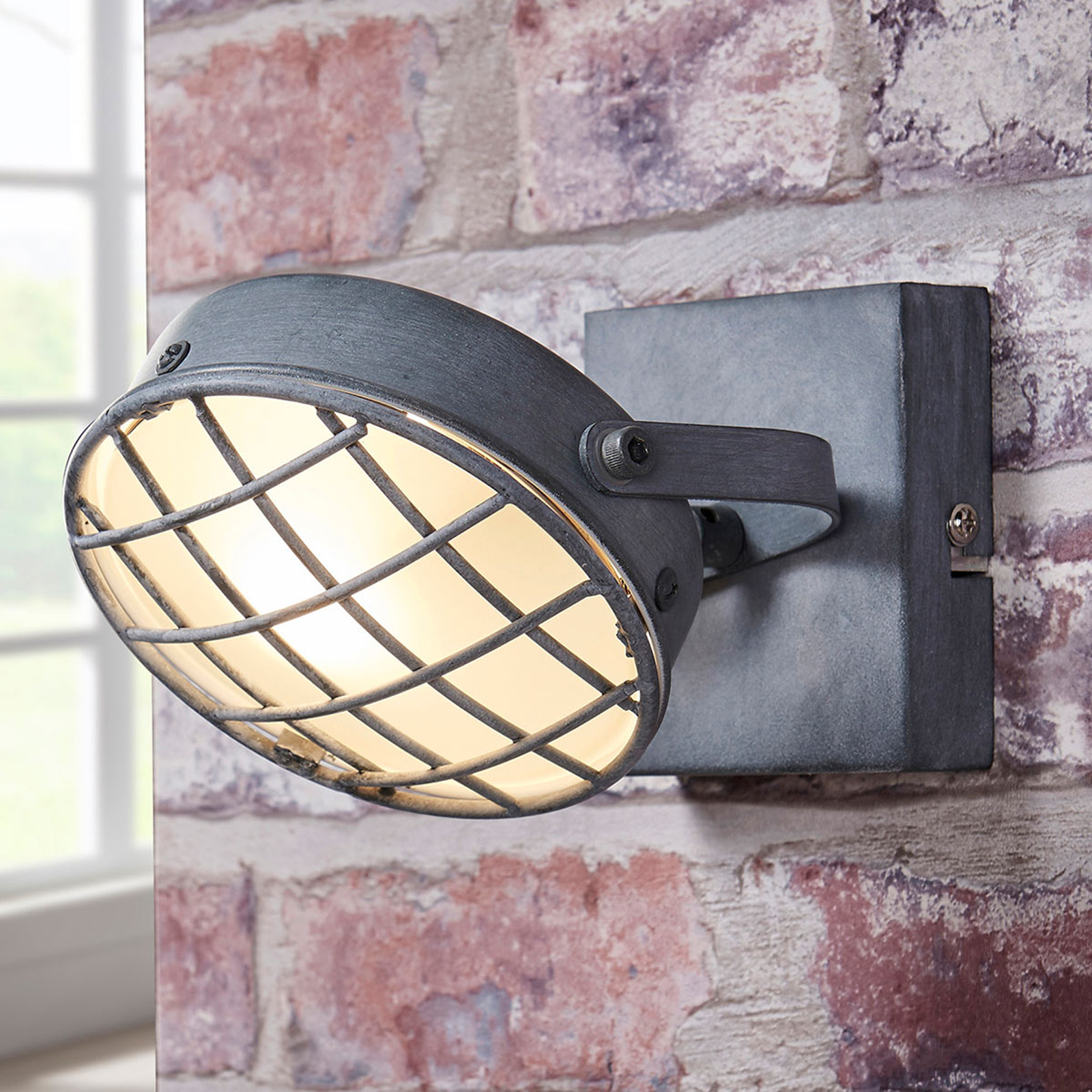 Savunharmaa LED-kohdevalaisin Tamin, teollistyyli