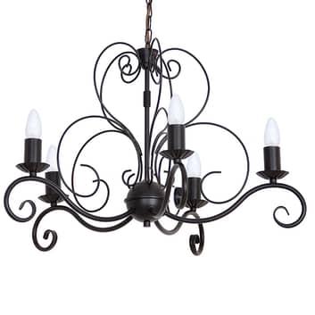 Lámpara de araña Mauro, 5 luces