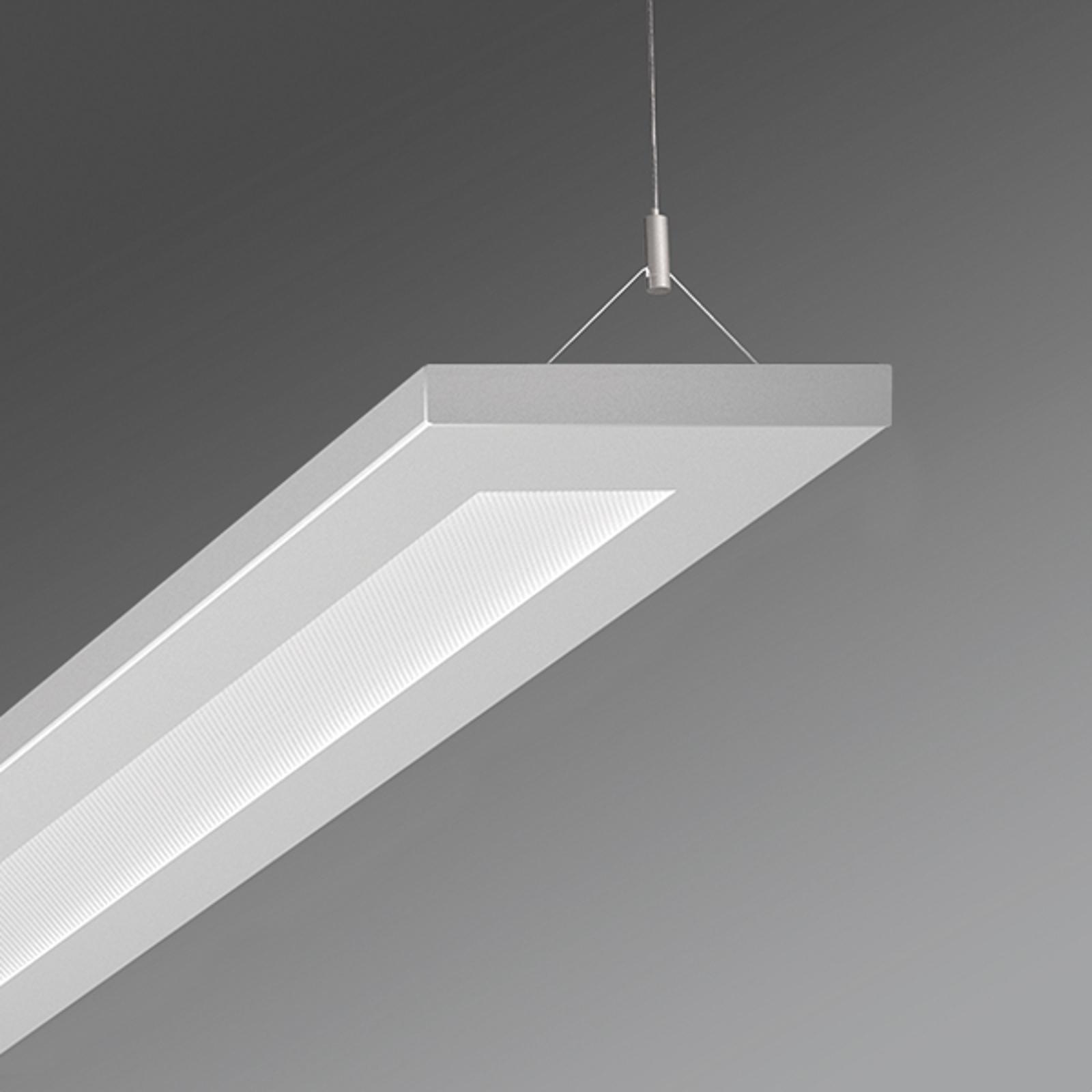 Suspension bureau LED Stail microprismes blanc alu