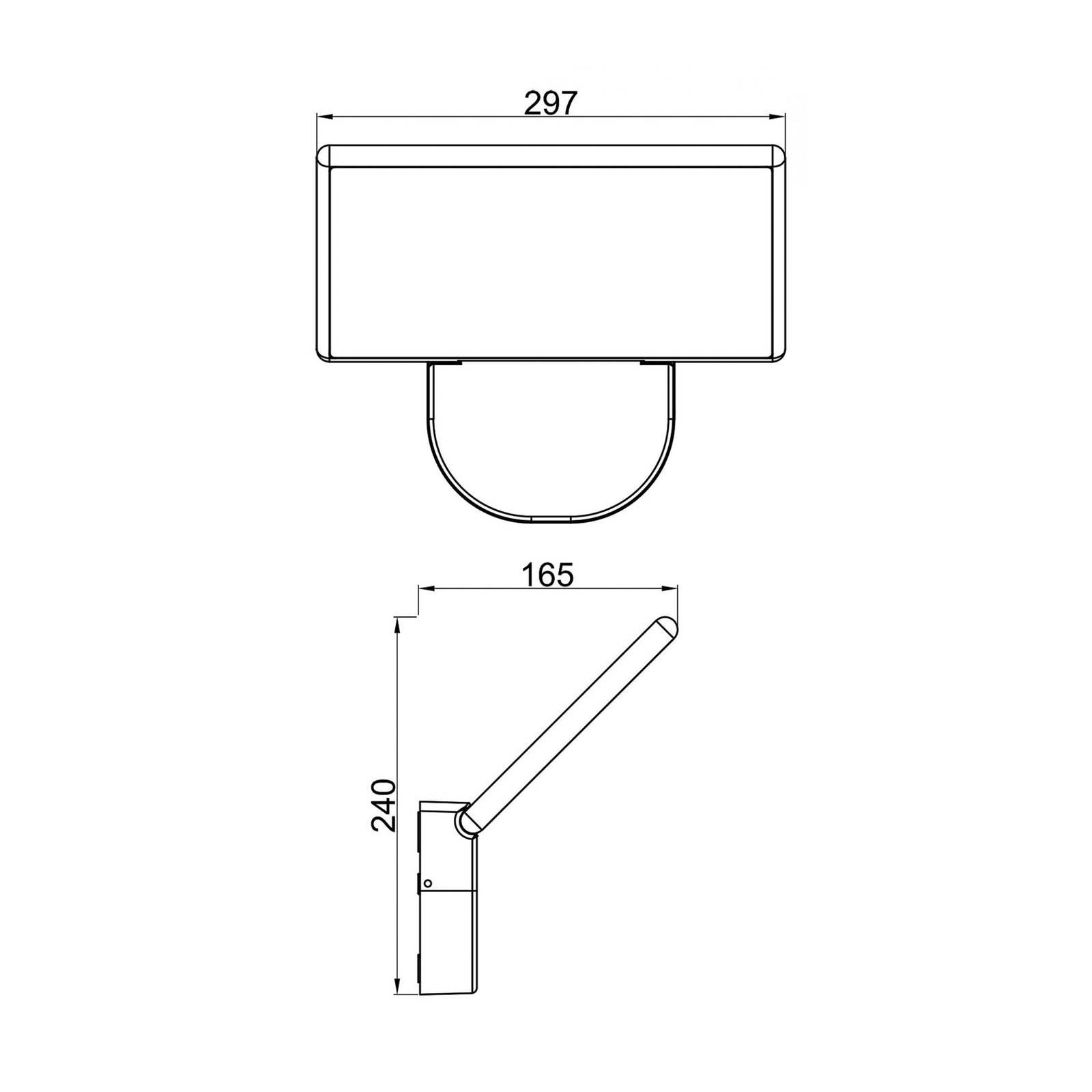 LED-Außenwandleuchte Alkes L, 30 cm breit