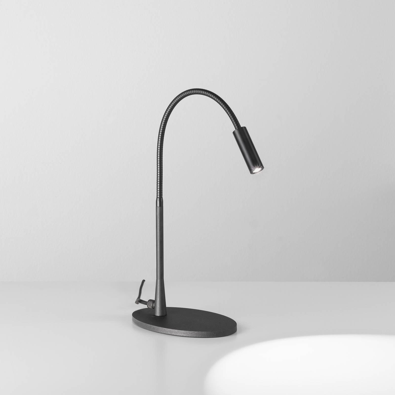 Egger Zooom LED-Tischleuchte mit Flexarm, schwarz