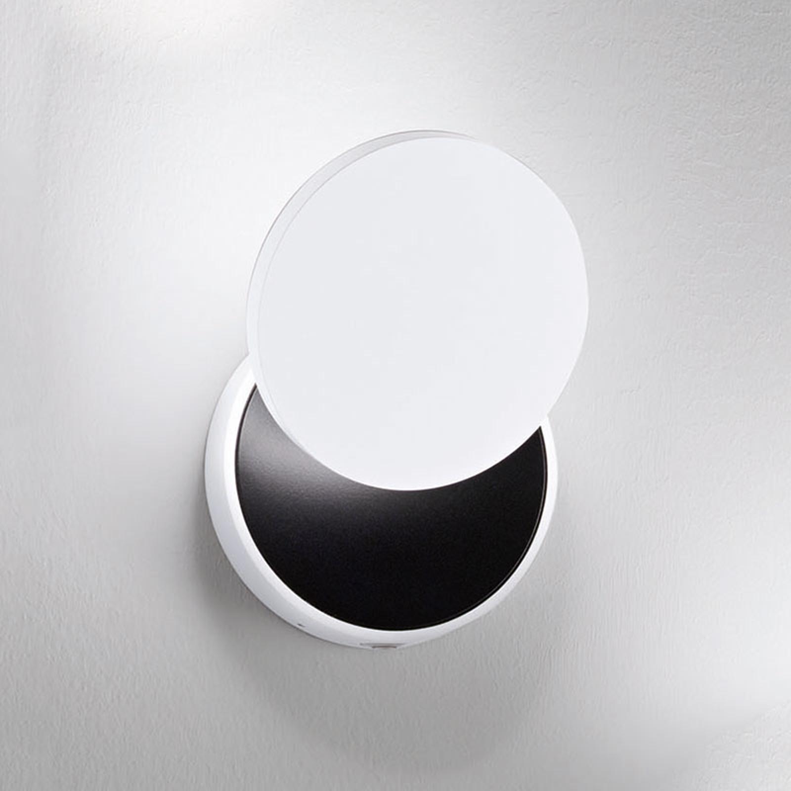 Applique murale LED Ara spot de lecture blanc-noir
