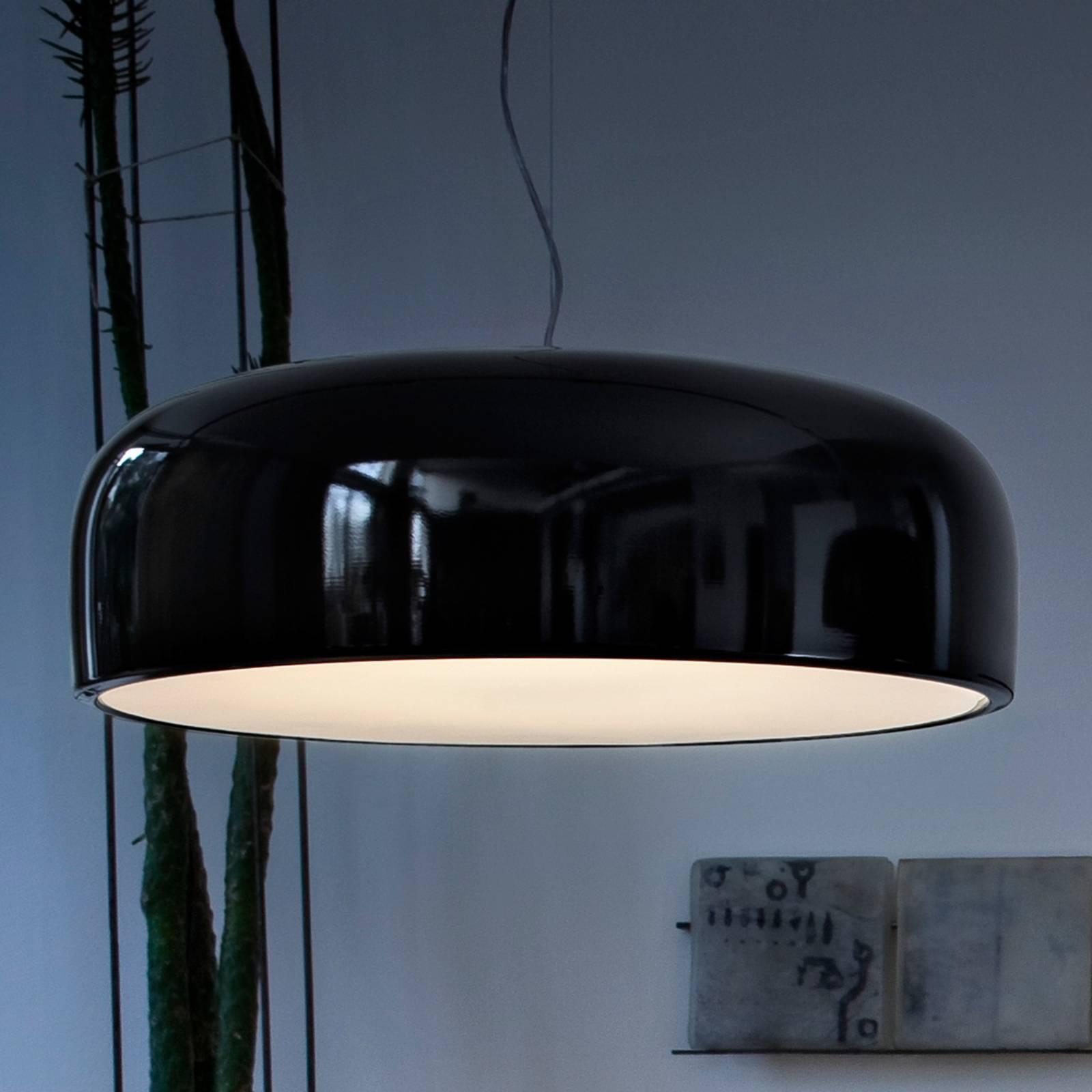 FLOS Smithfield S - Hängelampe in Schwarz glänzend