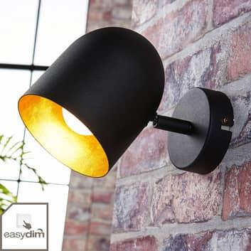 Foco LED Morik en negro y dorado, Easydim