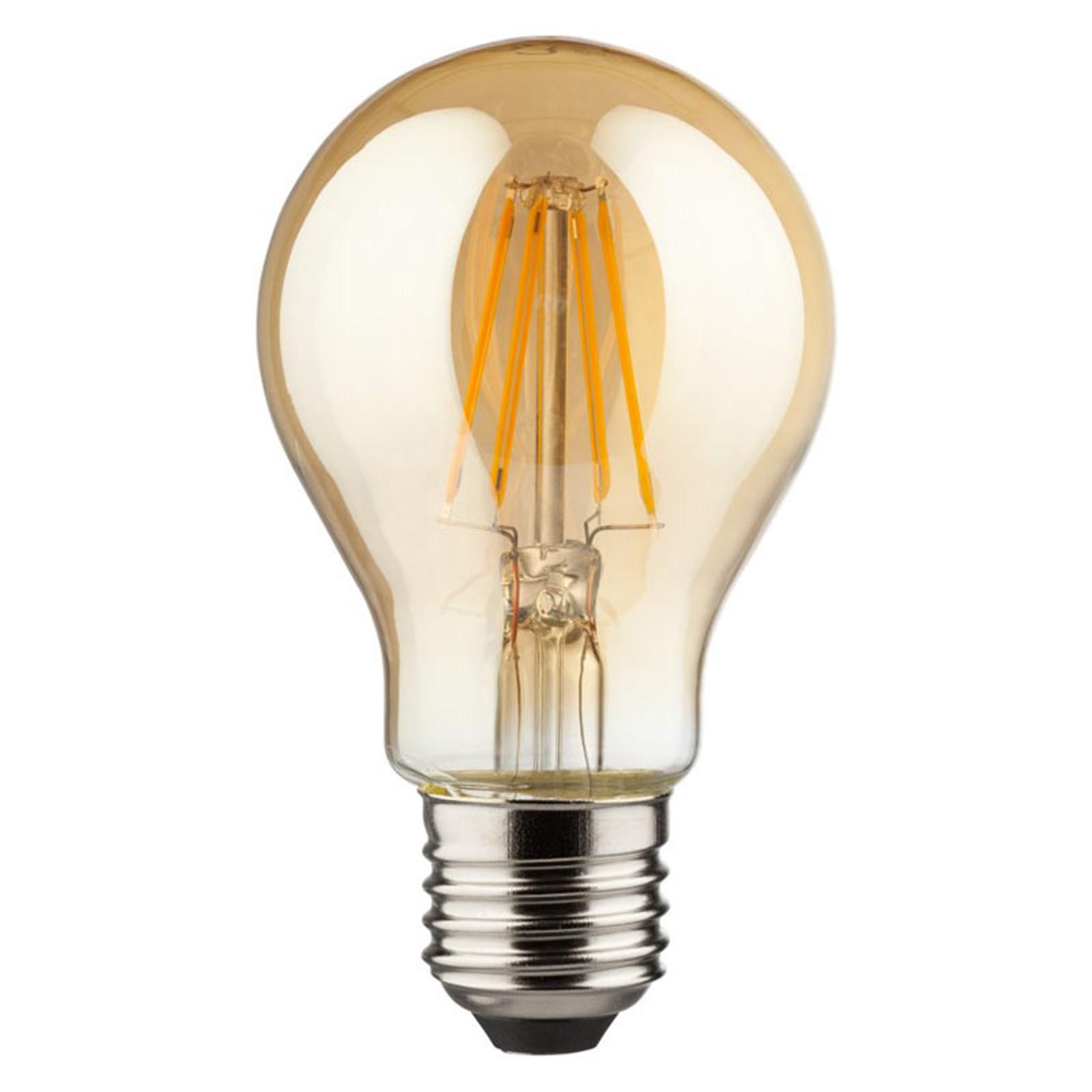 Żarówka LED E27 6,5W 2000 K 400lm Retro złota