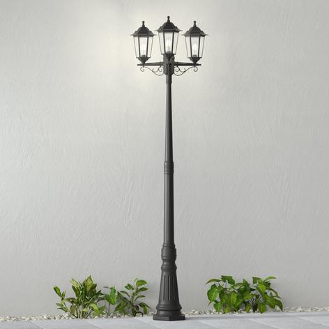 Stožárové svítidlo Nane ve tvaru lucerny 3zdrojové
