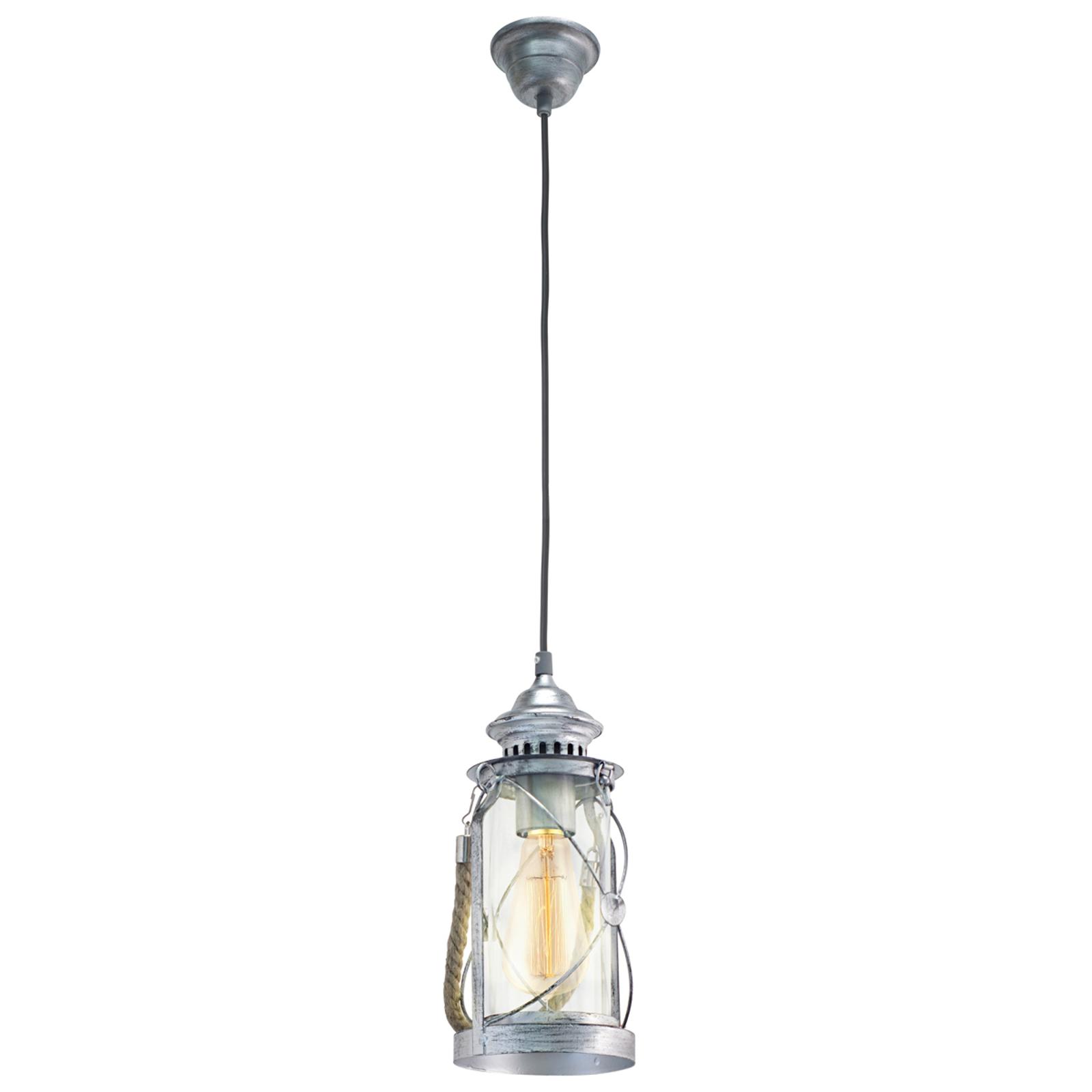 Antiek ontworpen hanglamp Fedor zilver