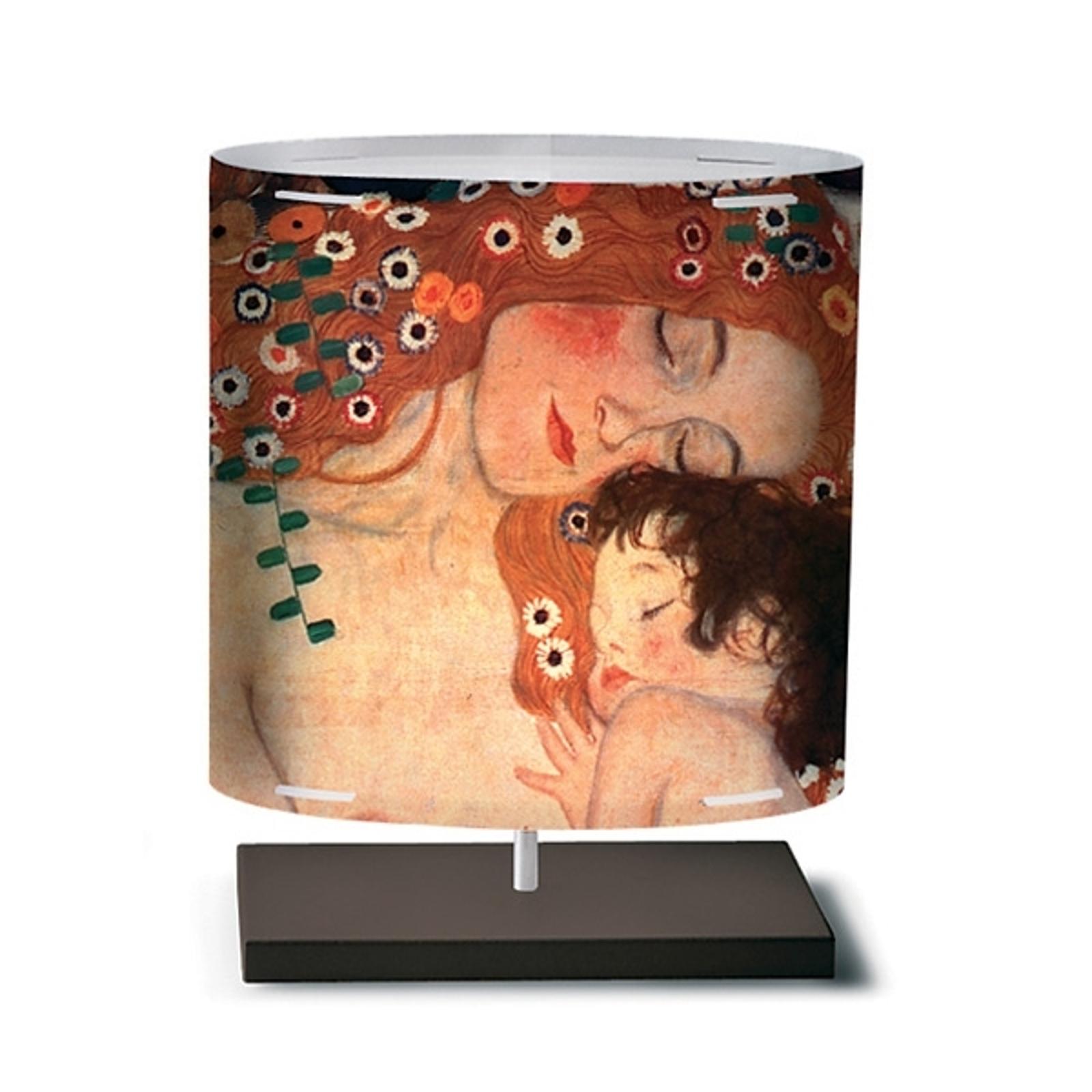 Klimt II - lámpara de mesa con patrón artístico