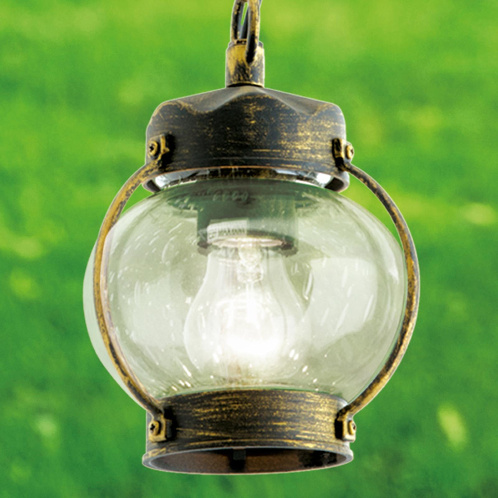 Med blåsglas - taklampan Margerite för utomhusbruk