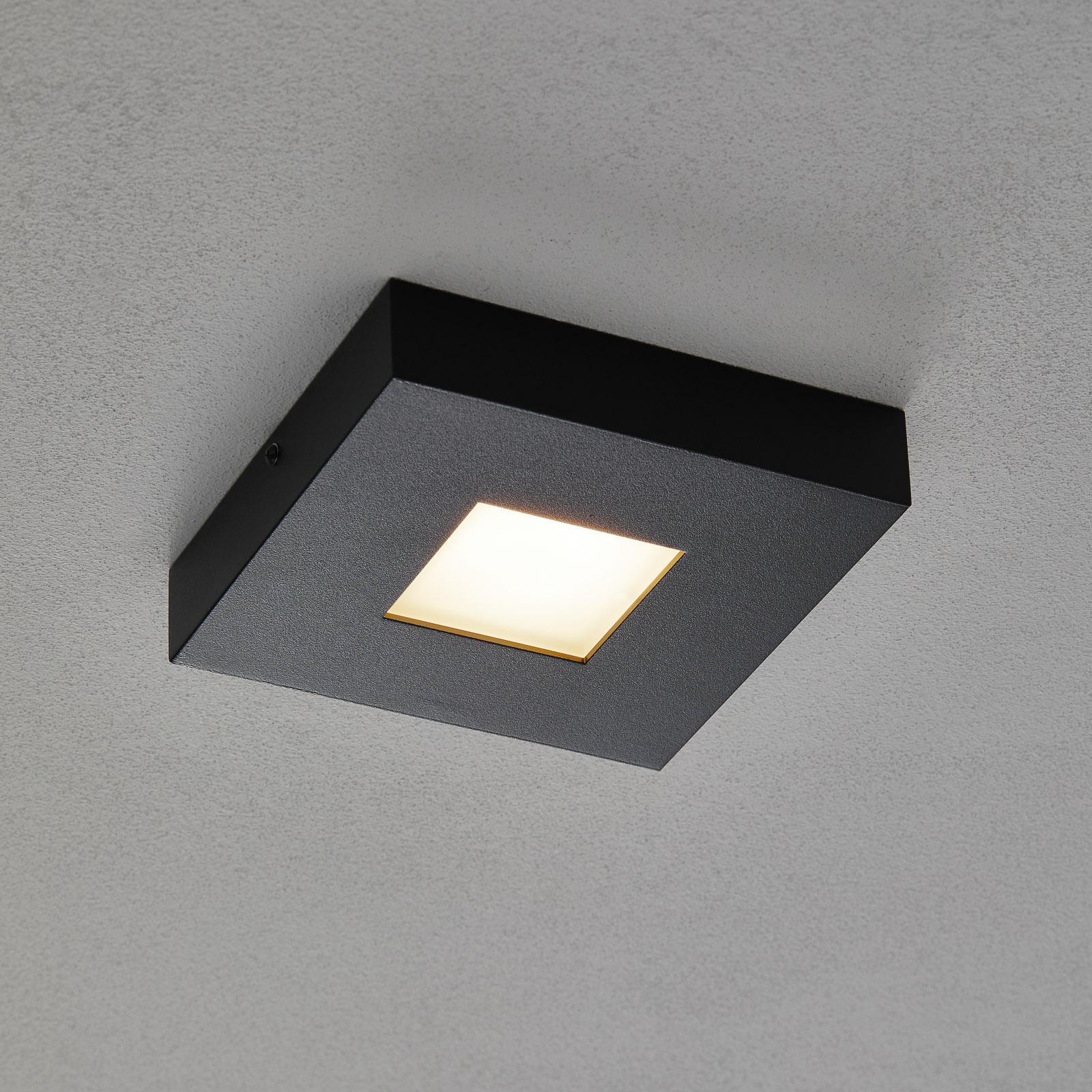 Plafón LED Cubus en negro