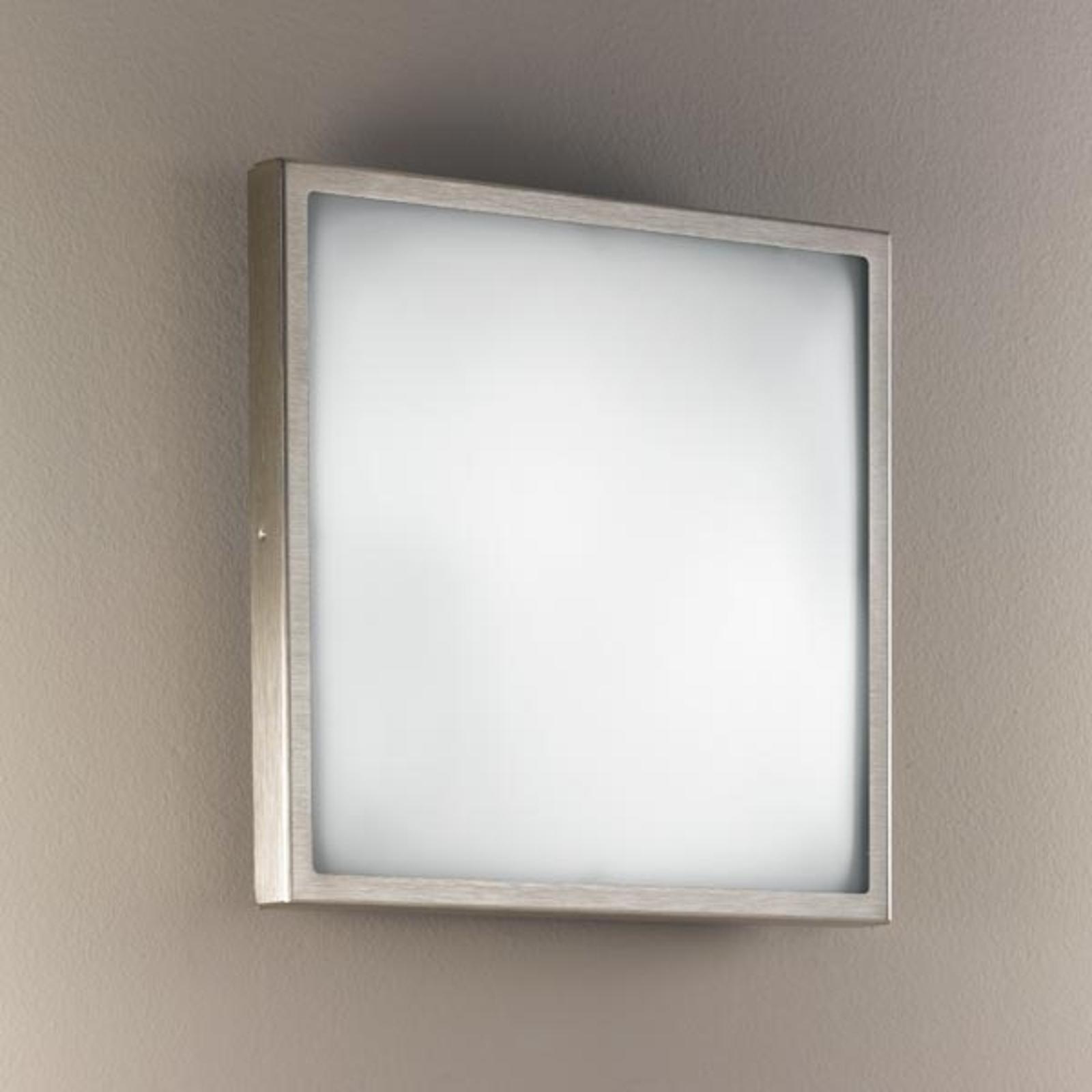 Glazen wand- en plafondlamp OSAKA, 30, nikkel