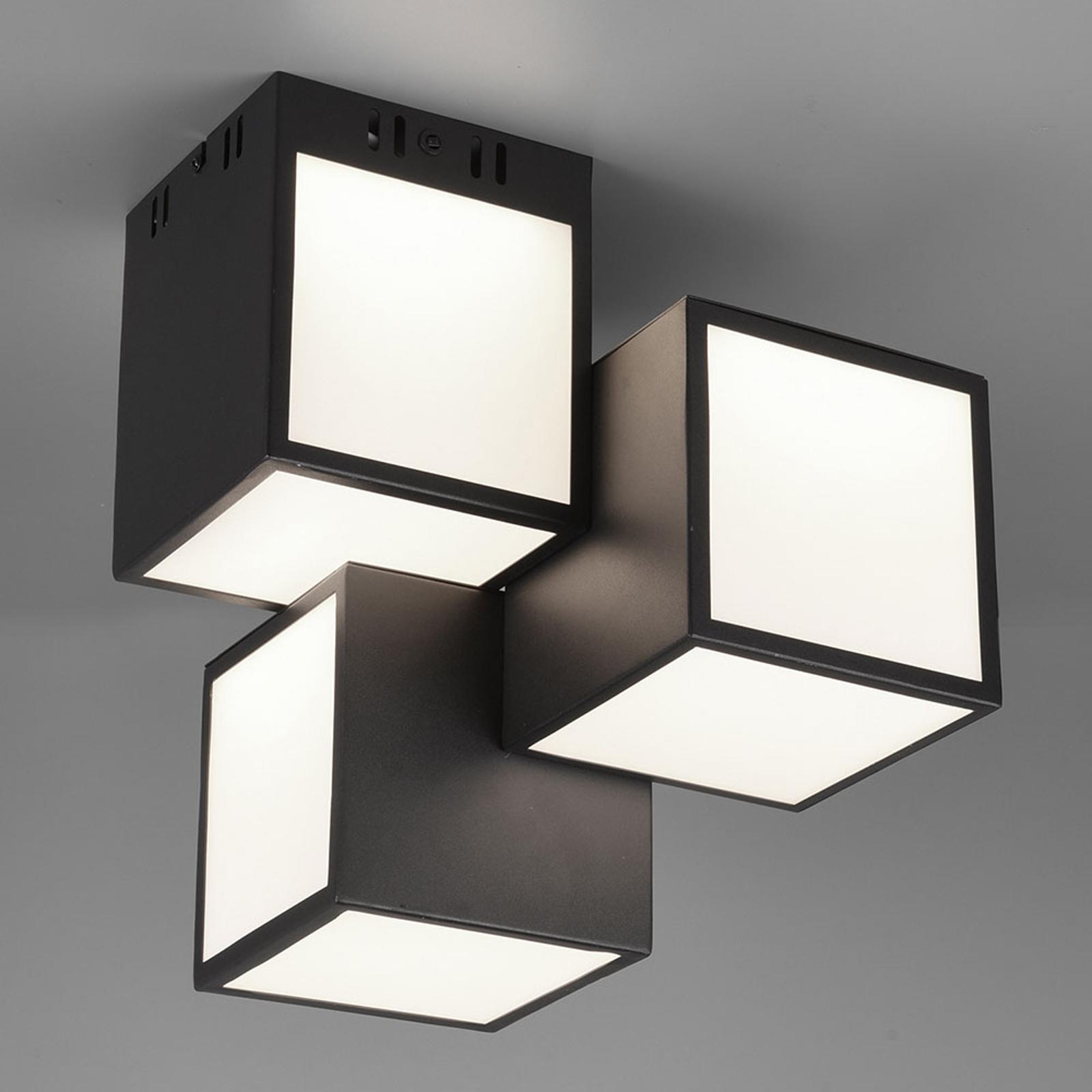 Trio WiZ Oscar LED-loftlampe, 30x30 cm, sort